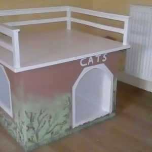 Indoor large cat house