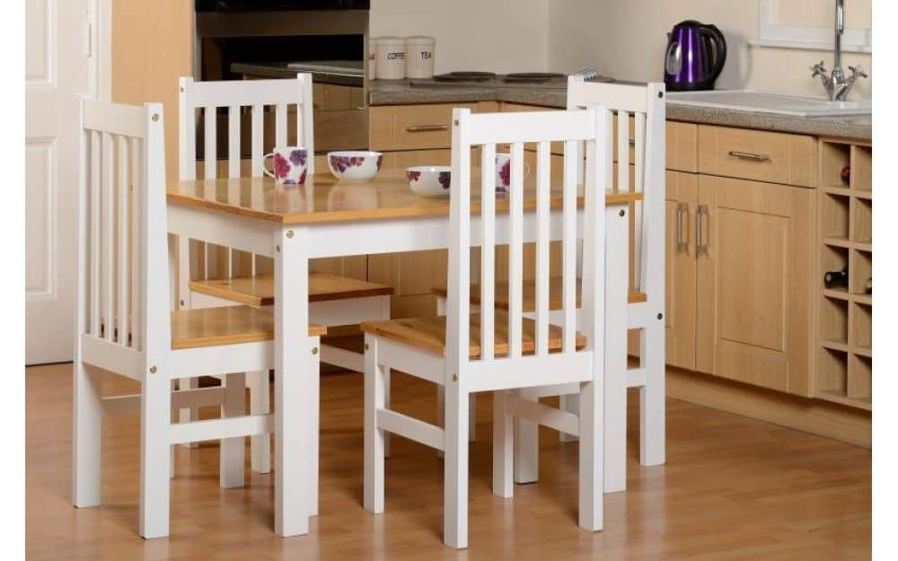 Etonnant Ludlow Dining Set In Oak/White