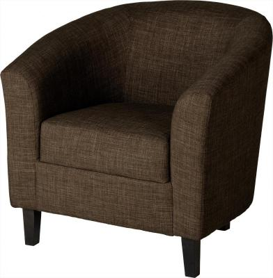 Tempo Brown Tub Chair | Low Cost Furniture Direct