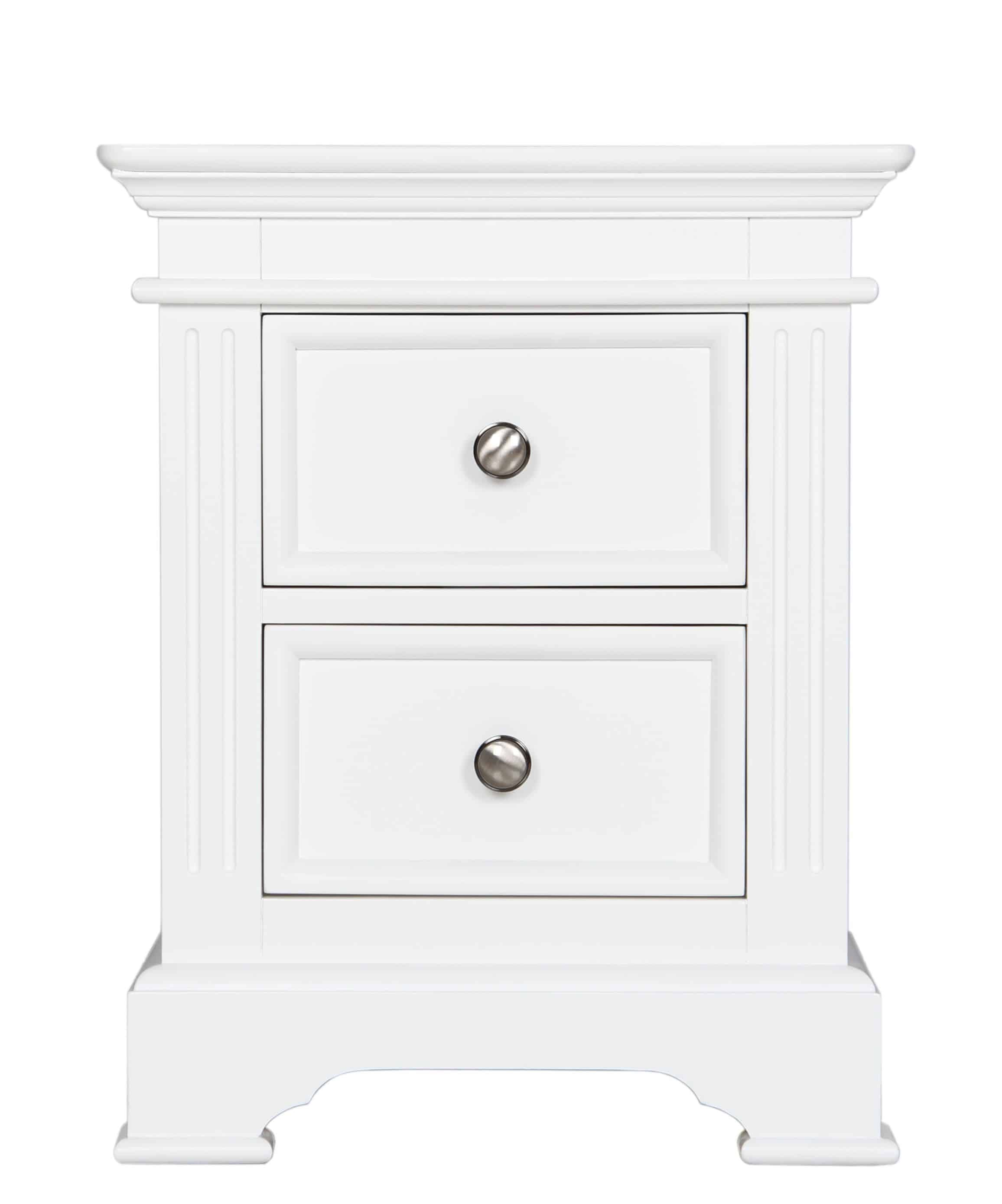 Ice High Gloss 2 Drawer Bedside White