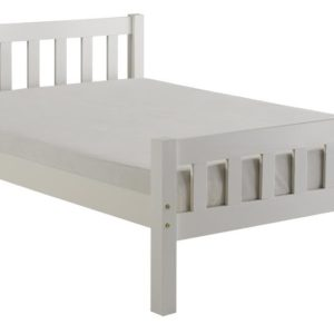 Carlow 4'6 White Bed