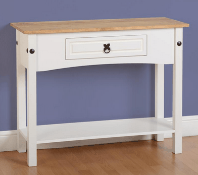Corona 1 Drawer Console Table In White