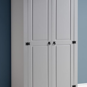 Corona 2 Door Wardrobe in Grey