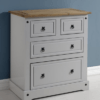 Corona 2+2 Drawer Chest in Grey