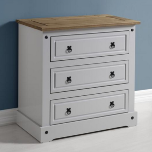 Corona 3 Drawer Chest in Grey