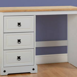 Corona 3 Drawer Dressing Table in Grey