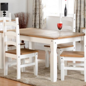 Corona 5' Dining Set in White