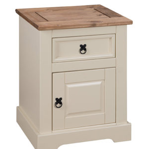 Corona 1 Drawer 1 Door Bedside in Cream