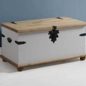 Corona Single Storage Chest in Grey