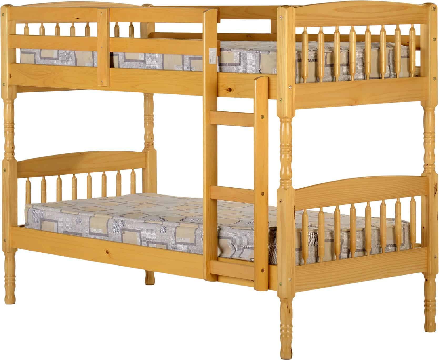 Albany 3 Bunk Bed In Antique Pine Low Cost Furniture Direct