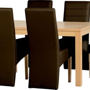 Belmont Dining Set/ Brown PU