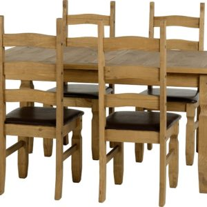 Corona 5' Dining Set in Brown