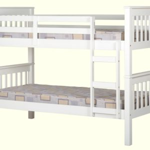 Neptune 3' Bunk Bed in White