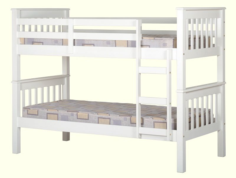 Neptune 3 Bunk Bed In White Low Cost Furniture Direct