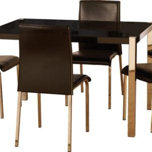 Charisma 4' Dining Set in Black