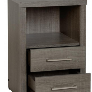 Lisbon Bedside in Black Wood Grain 2