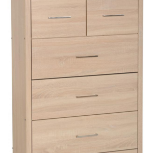Lisbon 3+2 Chest in Light Oak