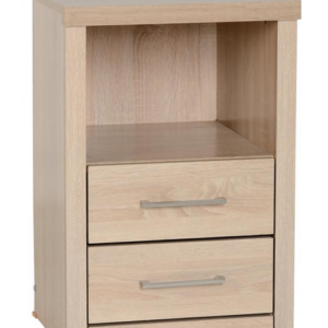 Lisbon Bedside Cabinet in Light Oak