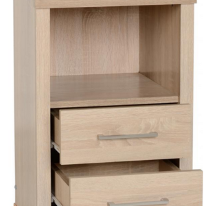 Lisbon Bedside Cabinet in Light Oak 2