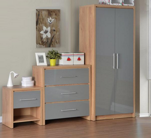 Seville Bedroom Set in Grey