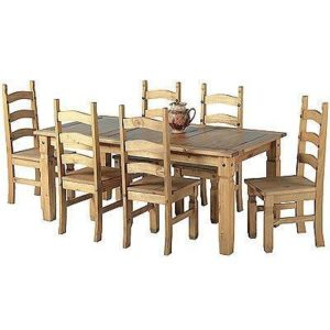 Corona 5ft Dining Set - 6 - Chairs