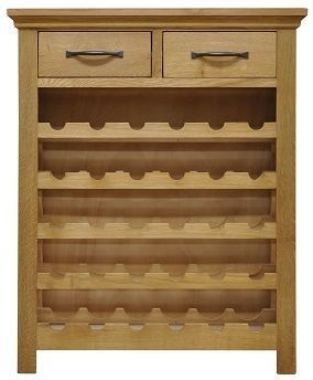 Wansford Oak Wine Cabinet
