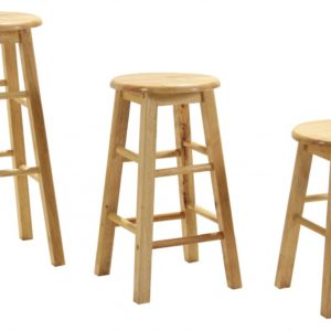 "24"" Swivel Wood Bar Stool X2"